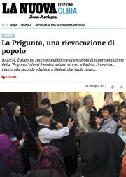 """La Nuova Sardegna – 23 maggio 2017: """"La Prigunta, una rievocazione di popolo"""""""